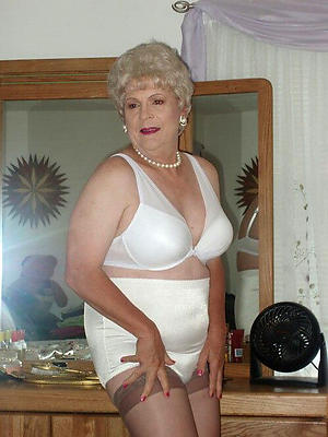 sexy mature in undergarments