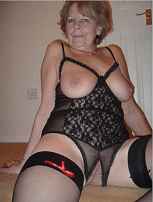 minimal old women in lingerie