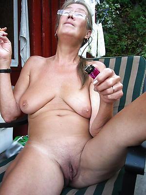 preposterous elderly naked woman