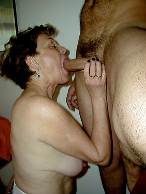 amateur older women giving blowjob