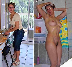 ladies dressed and undressed posing nude