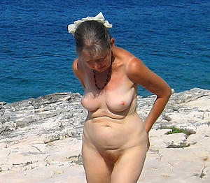 naughty unadorned beach grannies