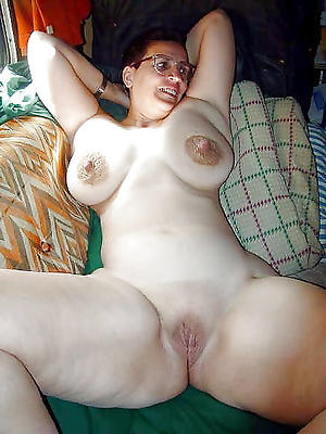 unsightly mature shaved pussy