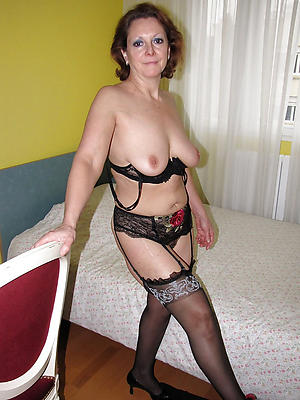 crazy mature granny in stockings