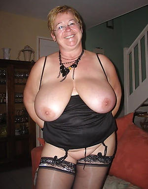 venerable women with big tits posing nude