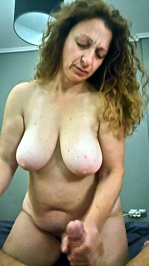 big tits on age-old battalion posing nude