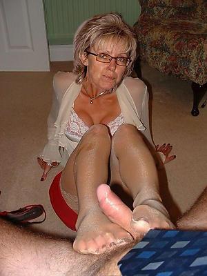 horny granny feet porn pic