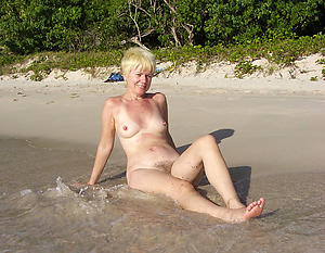 granny on the beach love posing nude