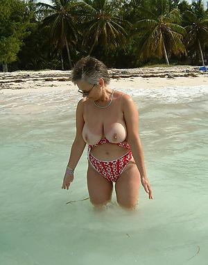 horny granny on the beach leafless pics