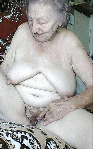 unmitigatedly old women pussy posing nude