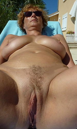 older women connected with hairy pussy posing nude