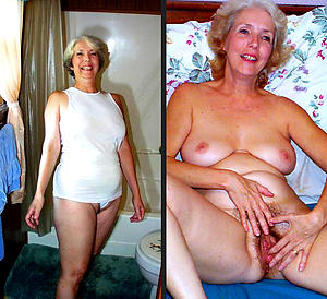 Dressed and nude women