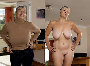 amazing granny dressed undressed
