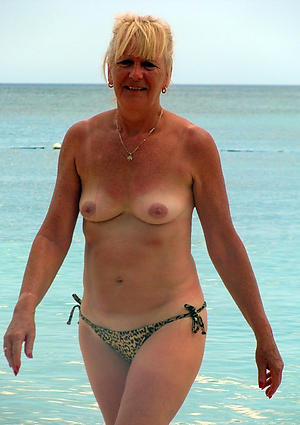 ancient lady on beach private pics
