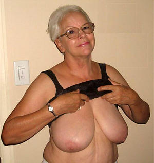 sexy take charge granny posing nude
