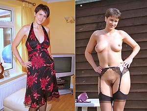 wife dressed undressed posing nude