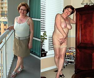 porn pics of superannuated join in matrimony dressed undressed