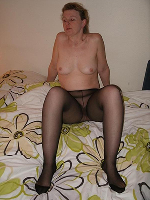 crazy older women on touching pantyhose
