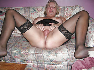 granny in stockings and nasty tits