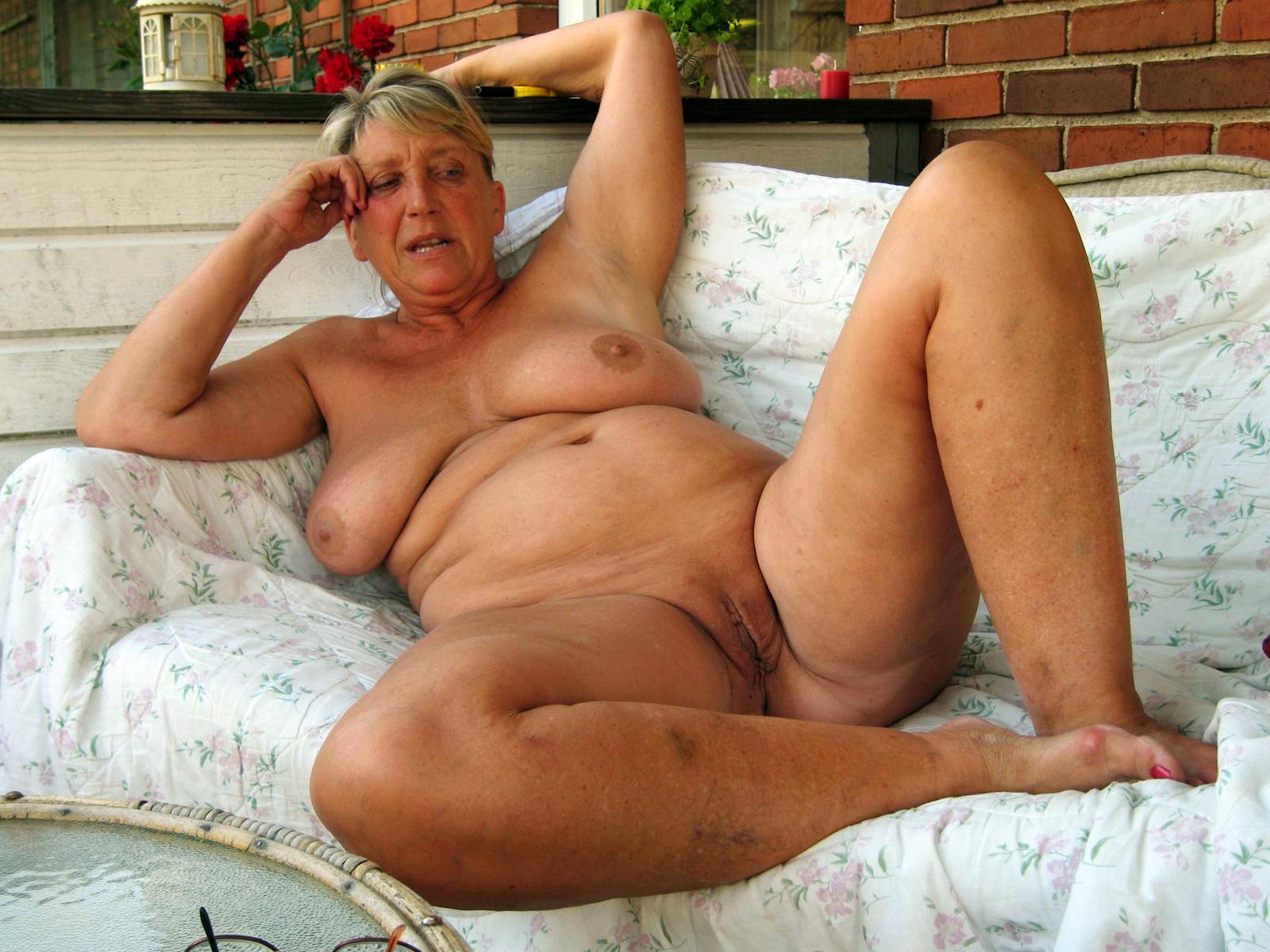 Nude old women