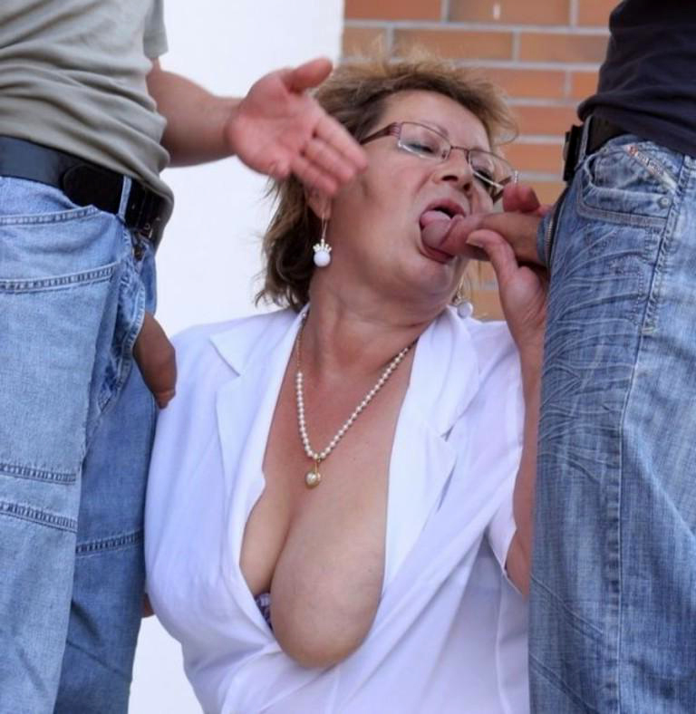 Old Granny Sucking Dick